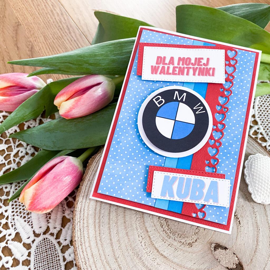 Walentynka z motywem BMW
