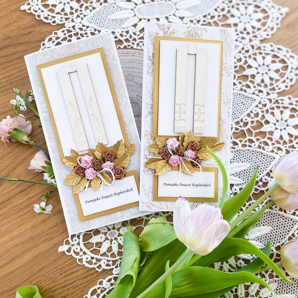 Ręcznie wykonane kartki z okazji Święceń Kapłańskich.