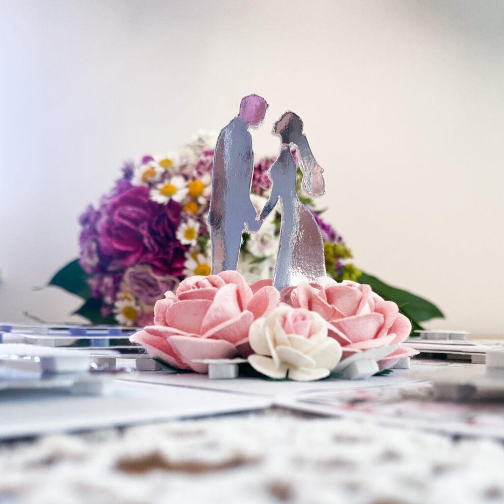 Exploding box - czyli samoojwierająca się kartka na ślub.