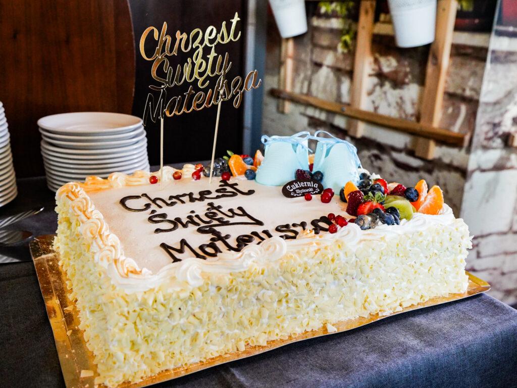topper na tort na chrzest